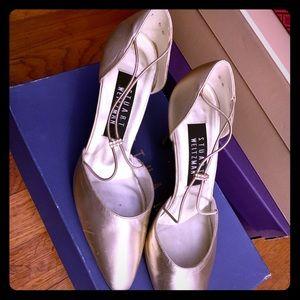 Sexy Gold satinato Stuart Weitzman heels